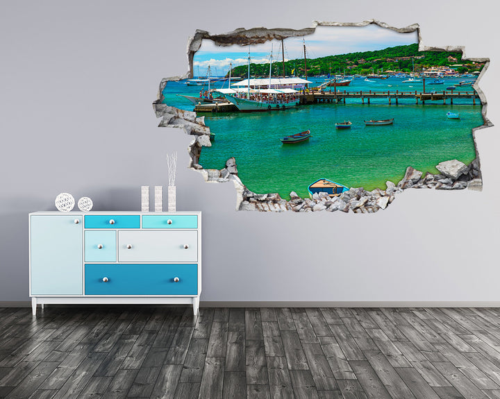 Boat Pier Dock Hall Decal Vinyl Wall Sticker H931