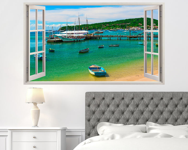 Boat Pier Dock Bedroom Decal Vinyl Wall Sticker H931w