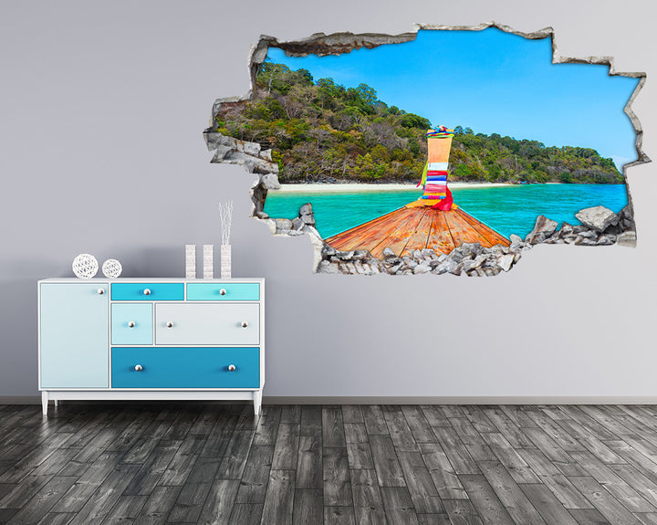 Paradise Boat Island Hall Decal Vinyl Wall Sticker H934