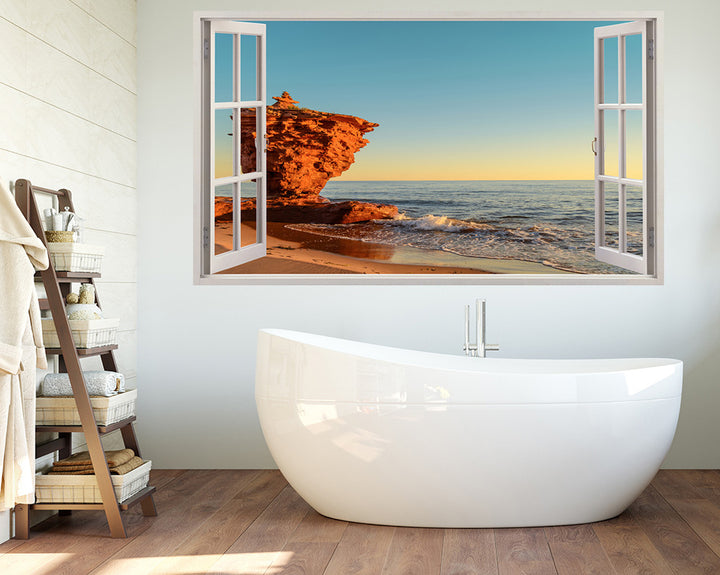 Sea Coast Rocks Bathroom Decal Vinyl Wall Sticker H937w