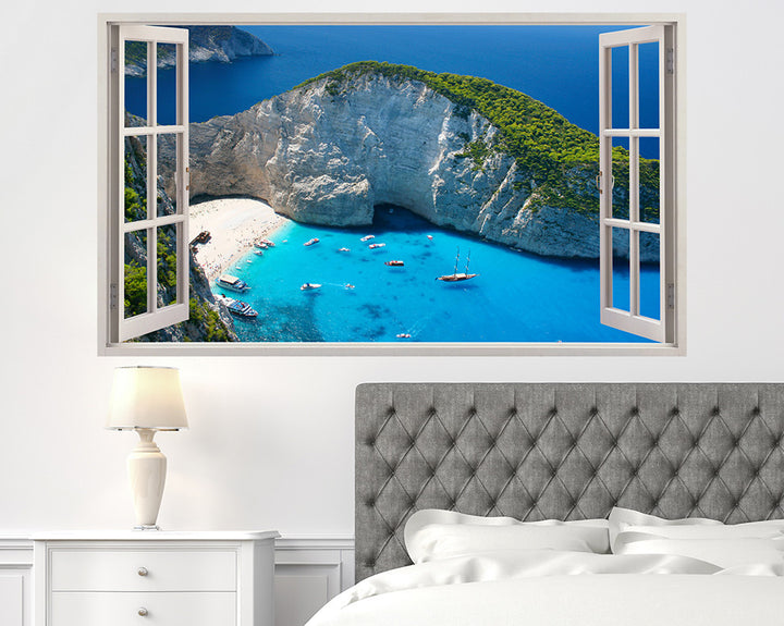 Paradise Beach Cove Bedroom Decal Vinyl Wall Sticker H939w
