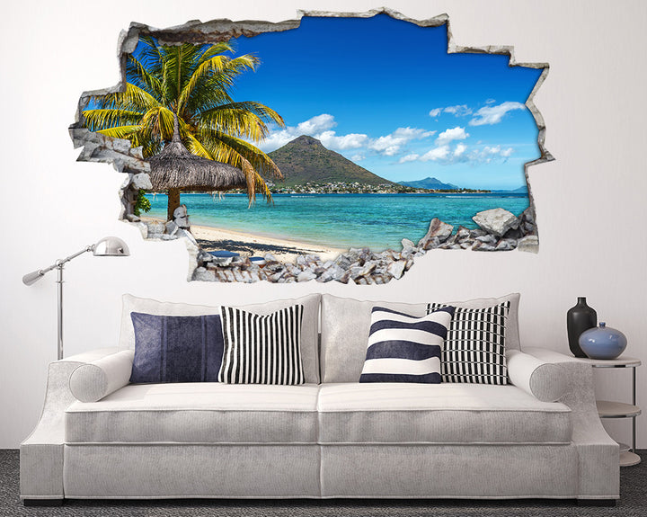 Palm Tree Paradise Living Room Decal Vinyl Wall Sticker H942