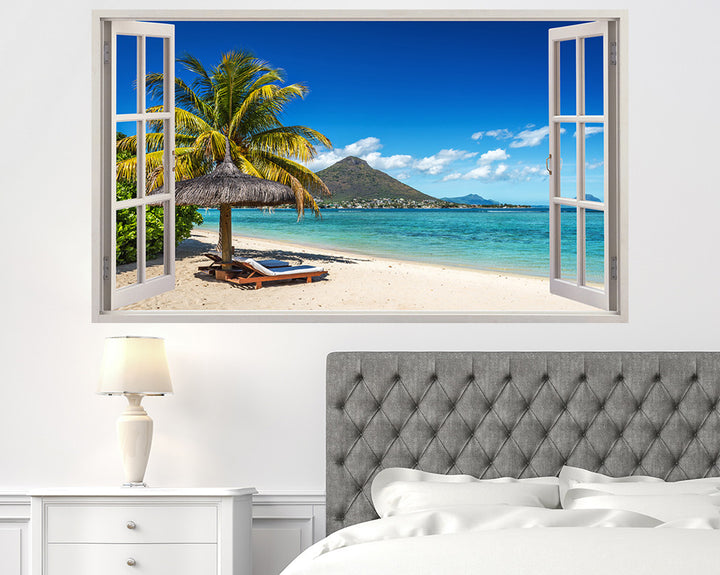 Palm Tree Paradise Bedroom Decal Vinyl Wall Sticker H942w