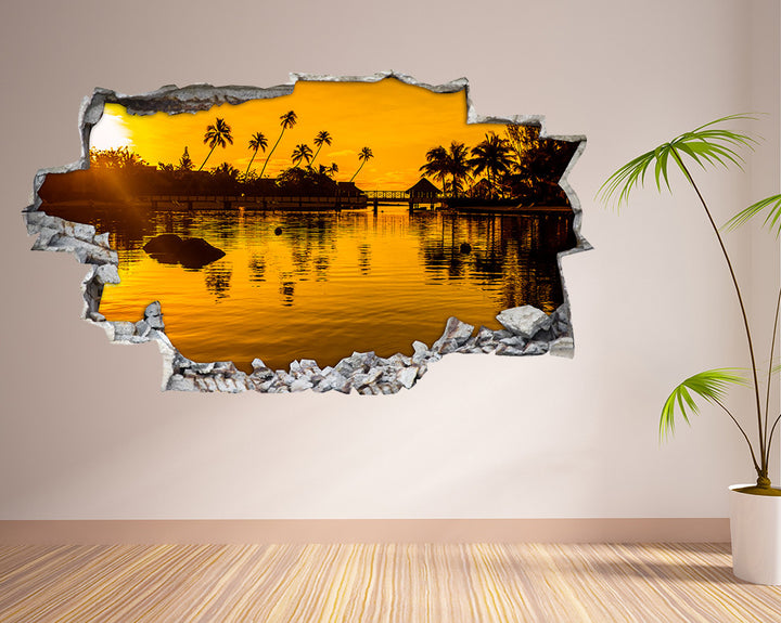 Hawaii Scenic Holiday Living Room Decal Vinyl Wall Sticker H944