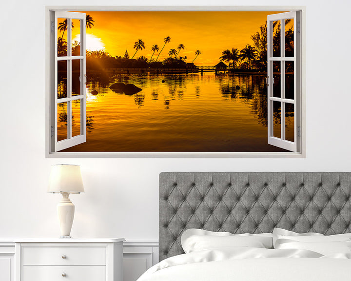 Hawaii Scenic Holiday Bedroom Decal Vinyl Wall Sticker H944w