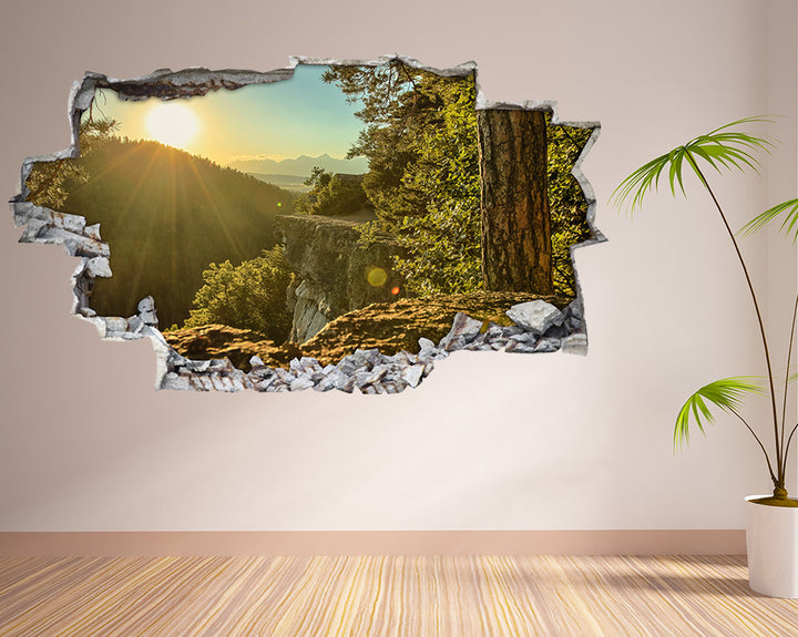 Mountain Forest Sun Living Room Decal Vinyl Wall Sticker H949