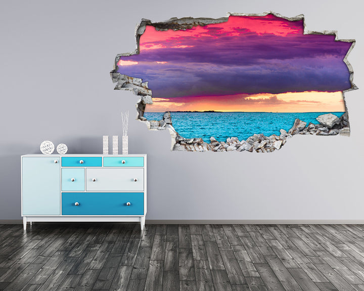 Colourful Sky Sea Hall Decal Vinyl Wall Sticker H951