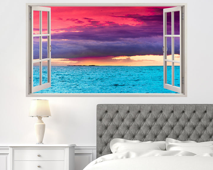 Colourful Sky Sea Bedroom Decal Vinyl Wall Sticker H951w