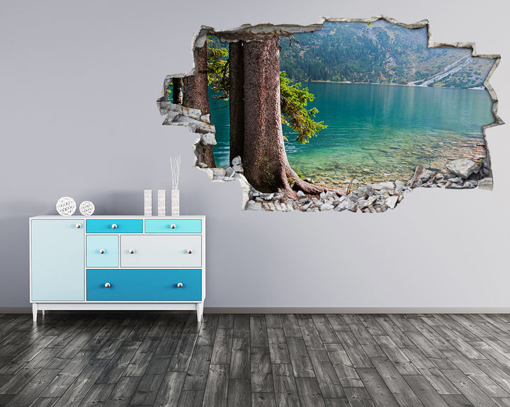 Mountain Lake Trees Hall Decal Vinyl Wall Sticker H956