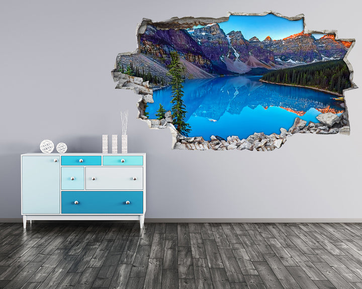 Canada Scenic Mountains Hall Decal Vinyl Wall Sticker H958