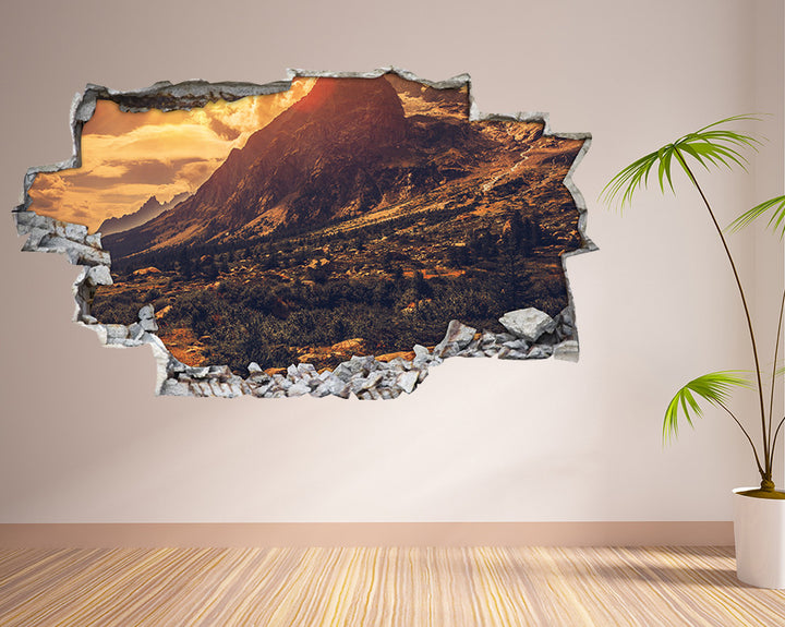 Cool Mountains Hike Living Room Decal Vinyl Wall Sticker H959