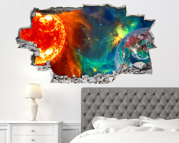 Sun Earth Space Bedroom Decal Vinyl Wall Sticker I017