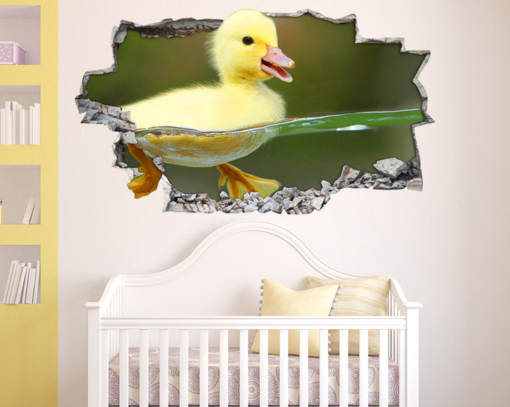 Cute Duckling Pond Nursery Decal Vinyl Wall Sticker I034