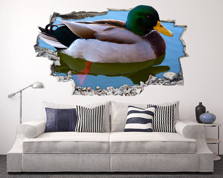 Duck Swim Pond Living Room Decal Vinyl Wall Sticker I035