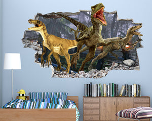 Jurassic World Dinosaurs Boys Bedroom Decal Vinyl Wall Sticker I037