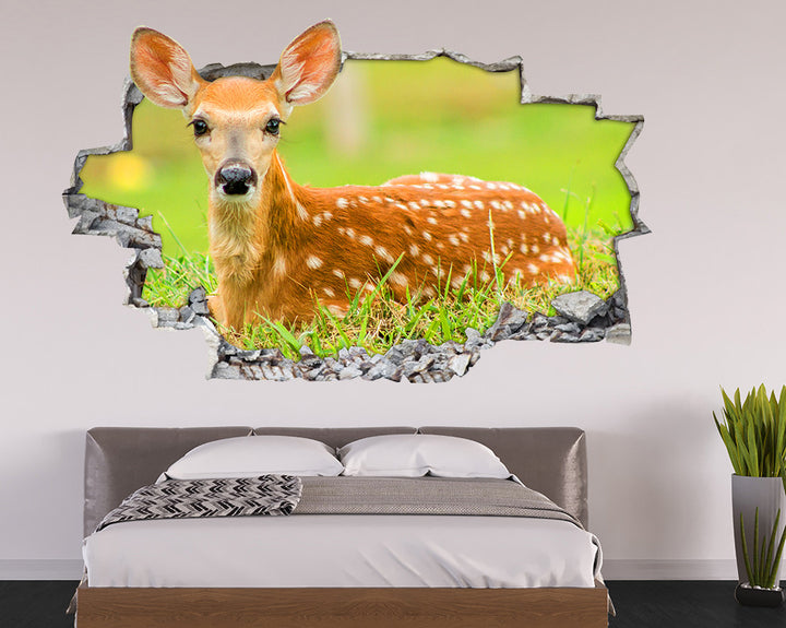 Cute Baby Deer Bedroom Decal Vinyl Wall Sticker I047