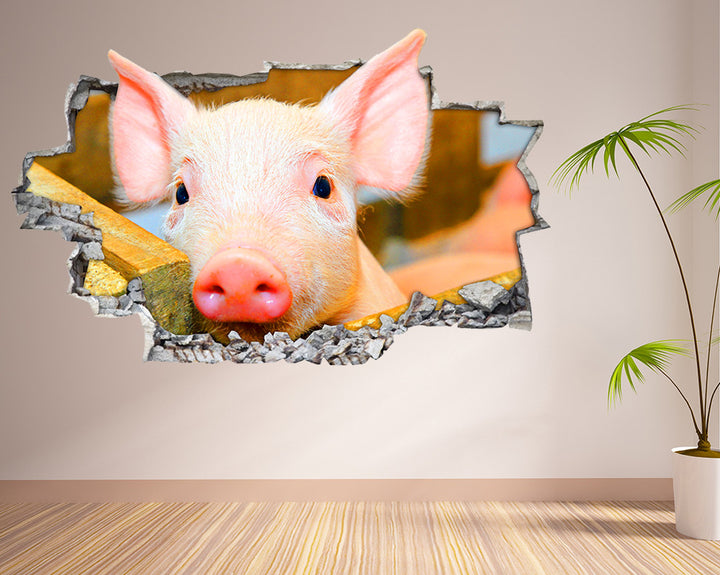 Cute Piglet Farm Living Room Decal Vinyl Wall Sticker I050