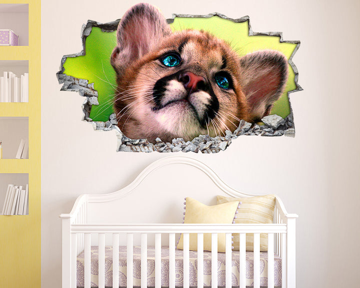 Cute Animal Cub Nursery Decal Vinyl Wall Sticker I051