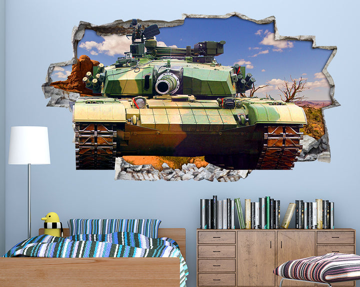 Army Tank Desert  Boys Bedroom Decal Vinyl Wall Sticker I057
