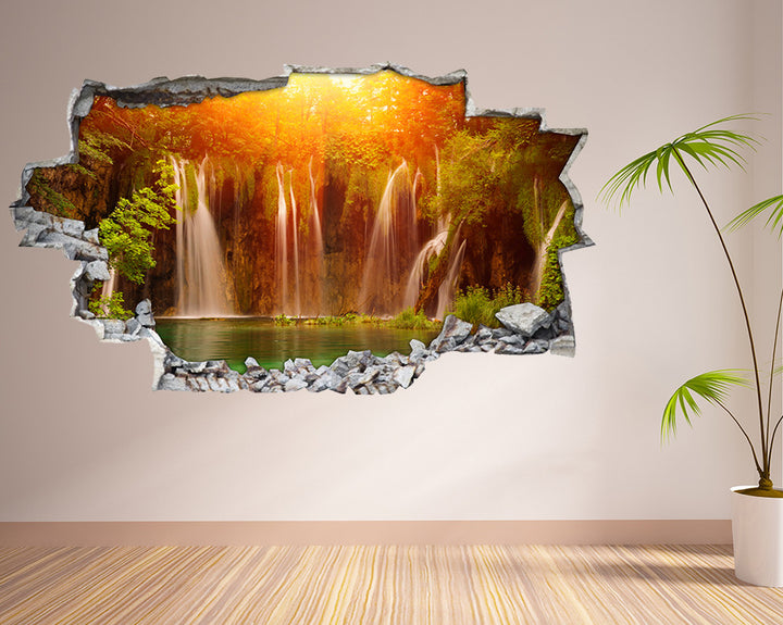 Waterfall Forest Pool Hall Decal Vinyl Wall Sticker I058