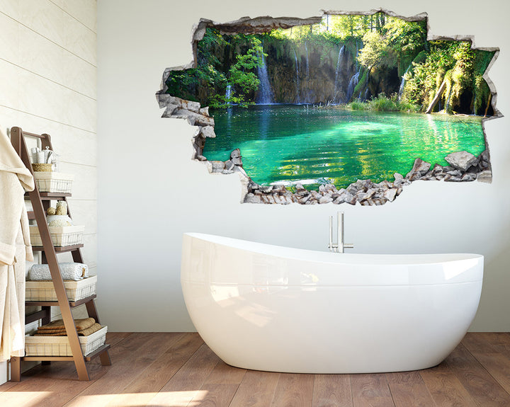 Waterfalls Jungle Pool Bathroom Decal Vinyl Wall Sticker I059