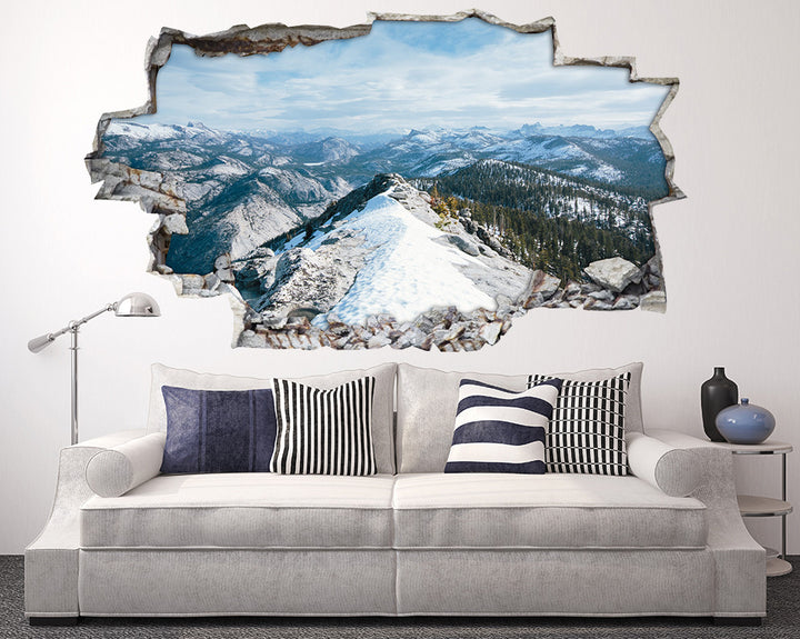 Winter Scenic Mountains Living Room Decal Vinyl Wall Sticker I073