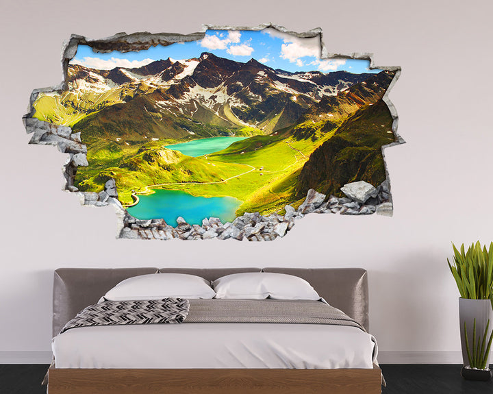 Beautiful Mountain Lakes Bedroom Decal Vinyl Wall Sticker I094