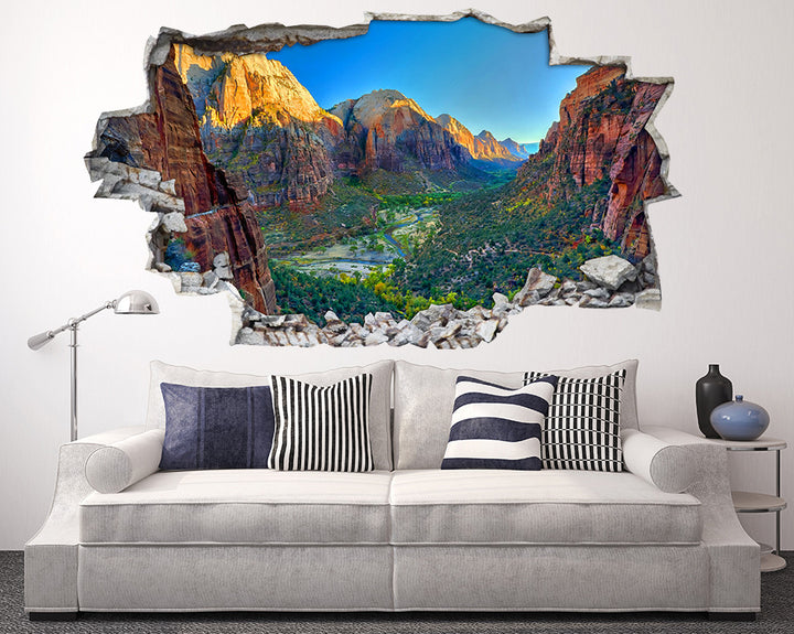 Mountain Valley River Living Room Decal Vinyl Wall Sticker I097