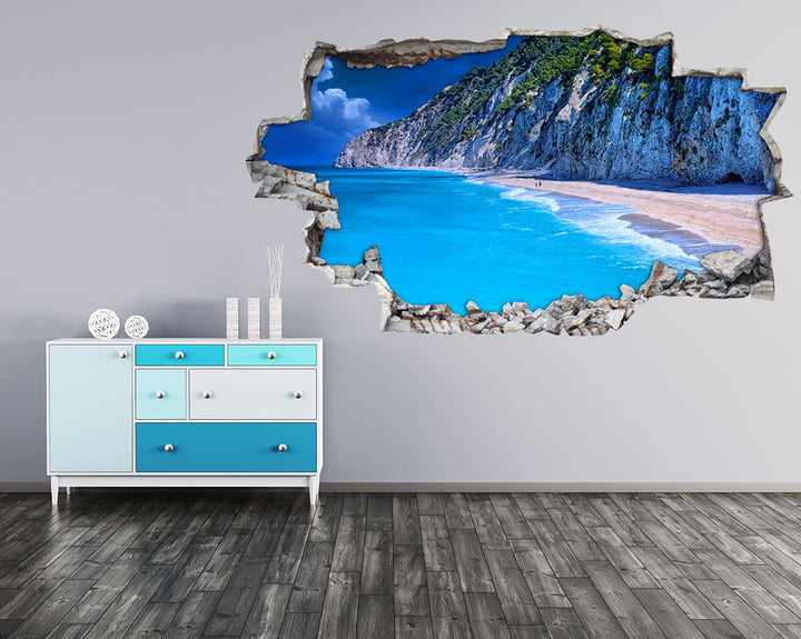 Coast Beach Cliffs Hall Decal Vinyl Wall Sticker I103
