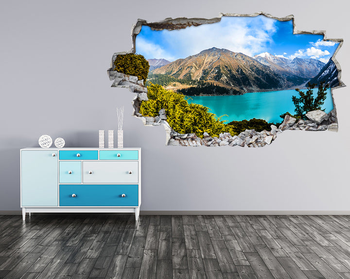 Mountain Blue Lake Hall Decal Vinyl Wall Sticker I110