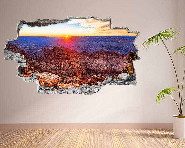 Sun Rays Grand Canyon Living Room Decal Vinyl Wall Sticker I114