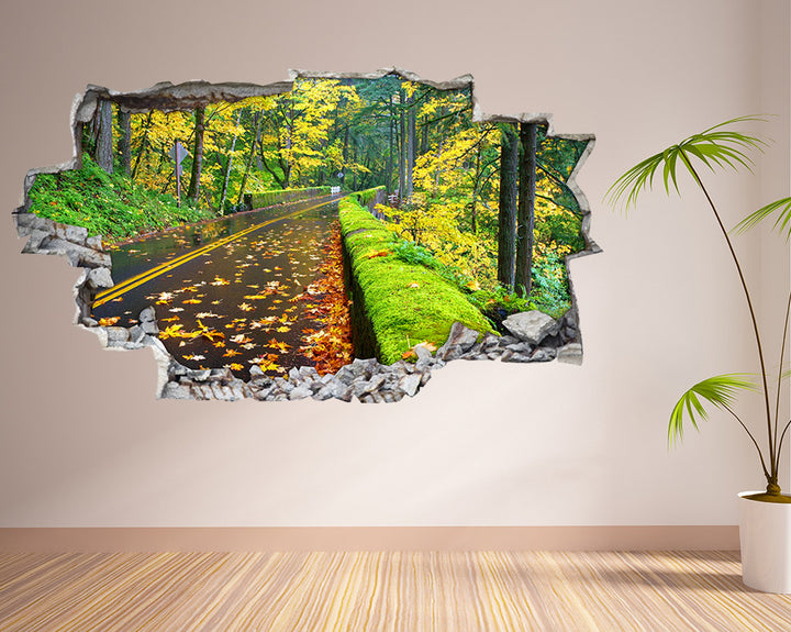 Autumn Road Nature Living Room Decal Vinyl Wall Sticker I118