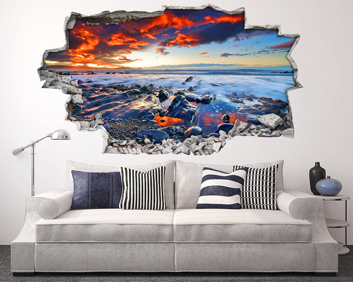 Beautiful Sea Landscape Living Room Decal Vinyl Wall Sticker I120