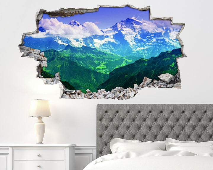 Colourful Mountains Bedroom Decal Vinyl Wall Sticker I121