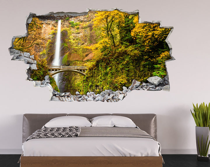 Forest Bridge Cliff Bedroom Decal Vinyl Wall Sticker I134