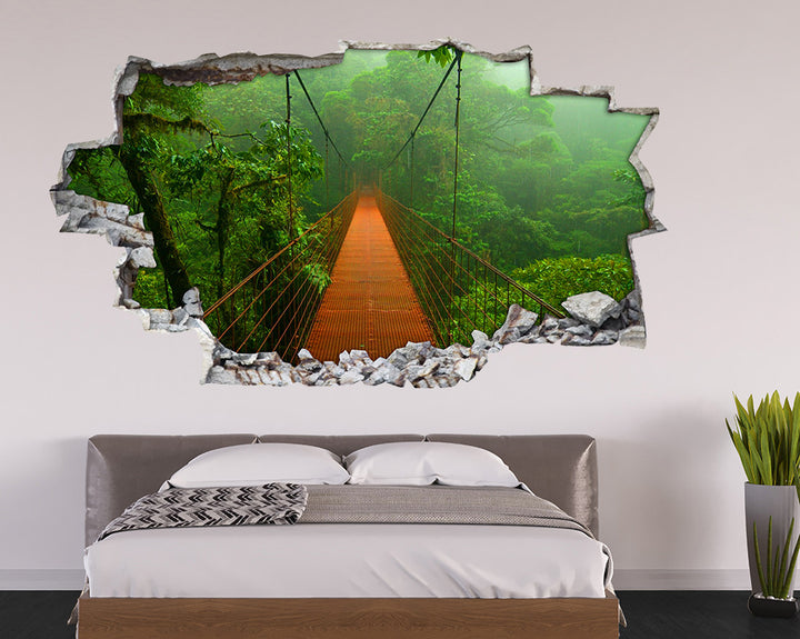 Jungle Rope Bridge Bedroom Decal Vinyl Wall Sticker I136