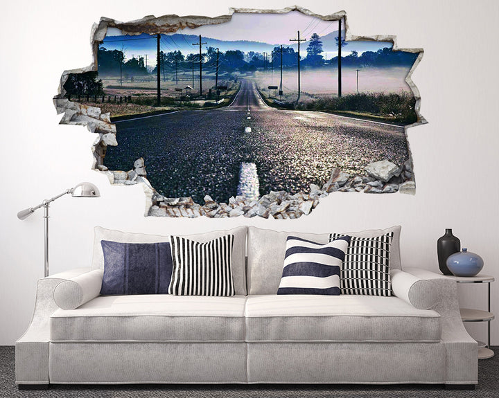 Country Road Mist Living Room Decal Vinyl Wall Sticker I145