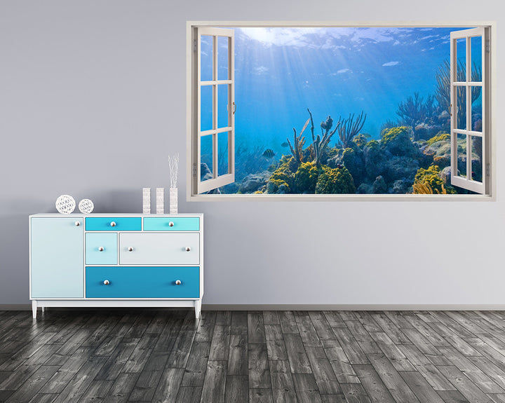 Sea Sun Rays Reef Hall Decal Vinyl Wall Sticker I160