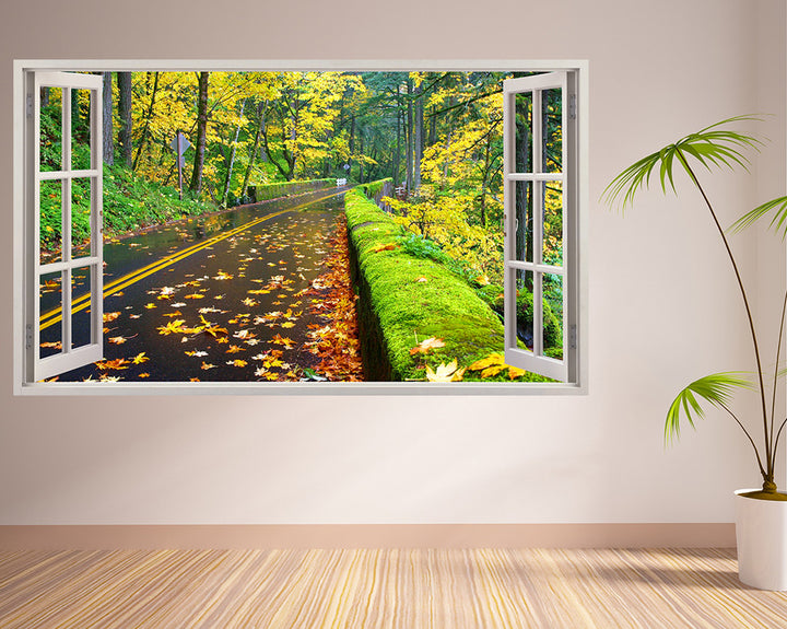 Autumn Road Nature Living Room Decal Vinyl Wall Sticker I162