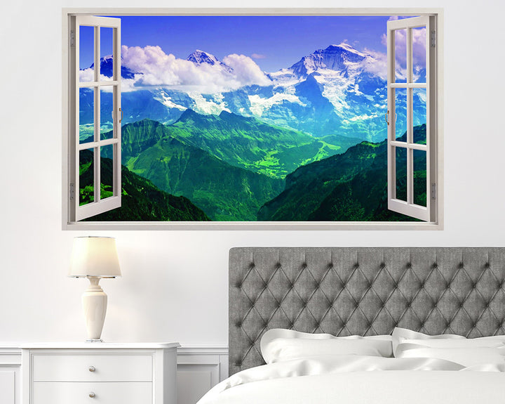 Colourful Mountains Bedroom Decal Vinyl Wall Sticker I165
