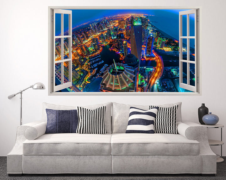 Neon City Lights Living Room Decal Vinyl Wall Sticker I171