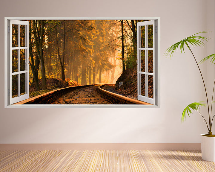Railway Track Forest Hall Decal Vinyl Wall Sticker I173
