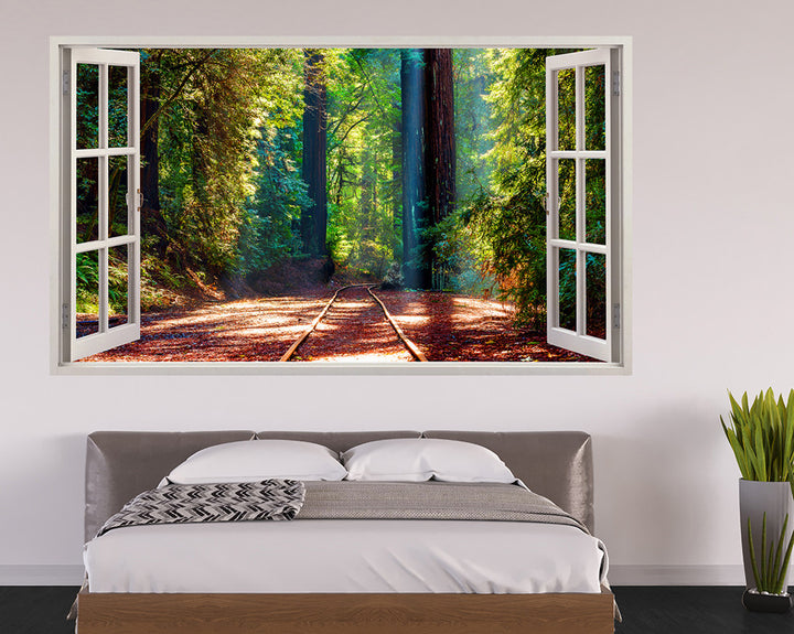Nature Forest Railway Bedroom Decal Vinyl Wall Sticker I177
