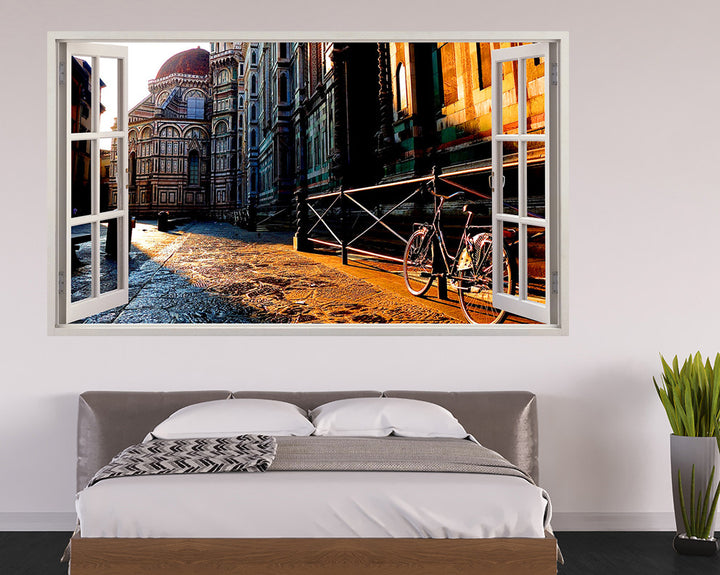 Bicycle City Street Bedroom Decal Vinyl Wall Sticker I185