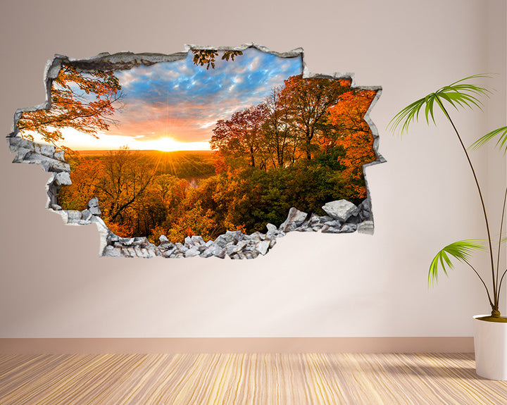 Sun Trees Nature View Living Room Decal Vinyl Wall Sticker I198