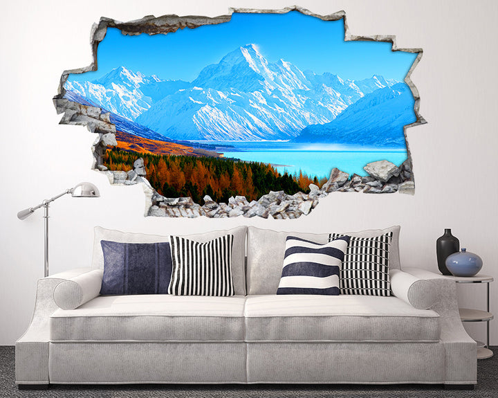 Snow Mountains Landscape Living Room Decal Vinyl Wall Sticker I203