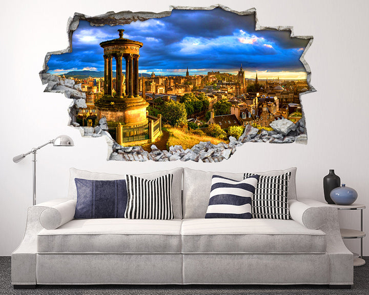 Golden City Buildings Living Room Decal Vinyl Wall Sticker I211