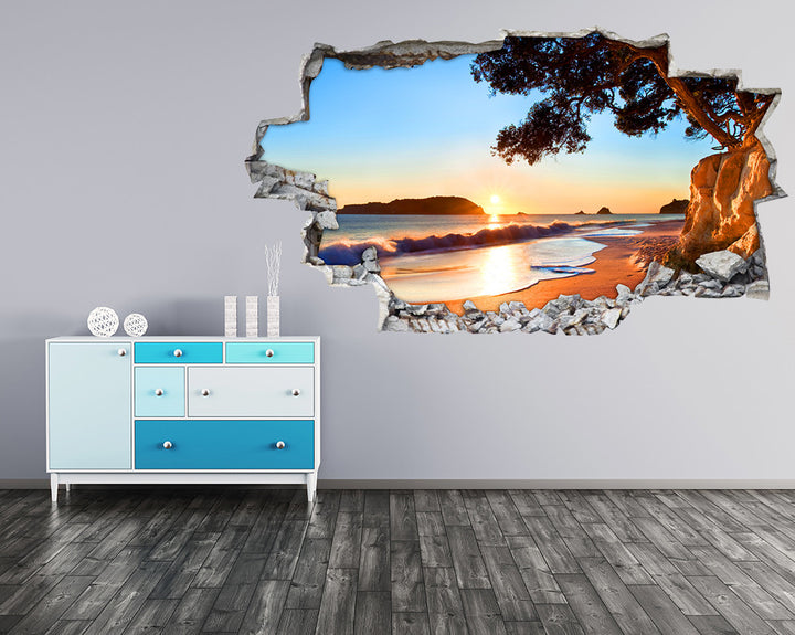 Sea Sun Waves Hall Decal Vinyl Wall Sticker I218