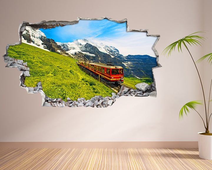 Mountain Scenic Train Hall Decal Vinyl Wall Sticker I223