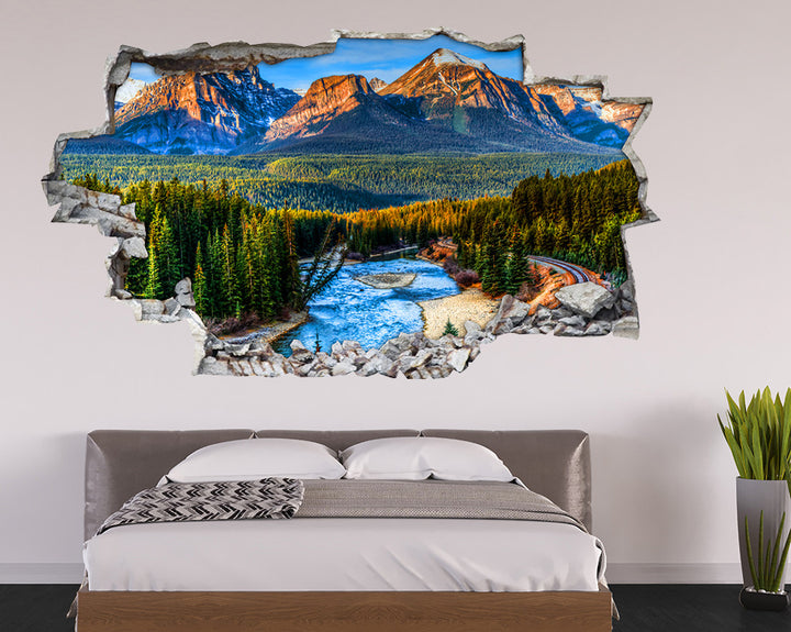 Mountain Forest Scenery Bedroom Decal Vinyl Wall Sticker I224